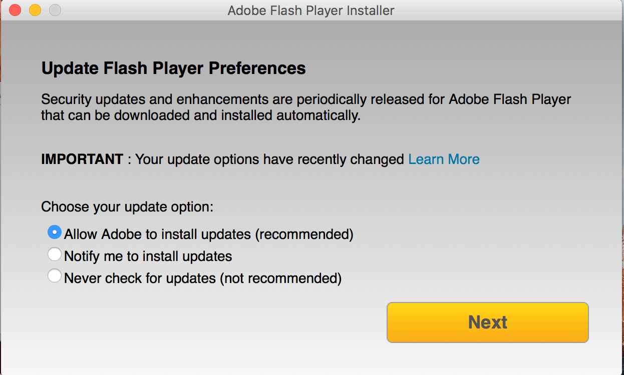 option you feel is right(Install Flash)