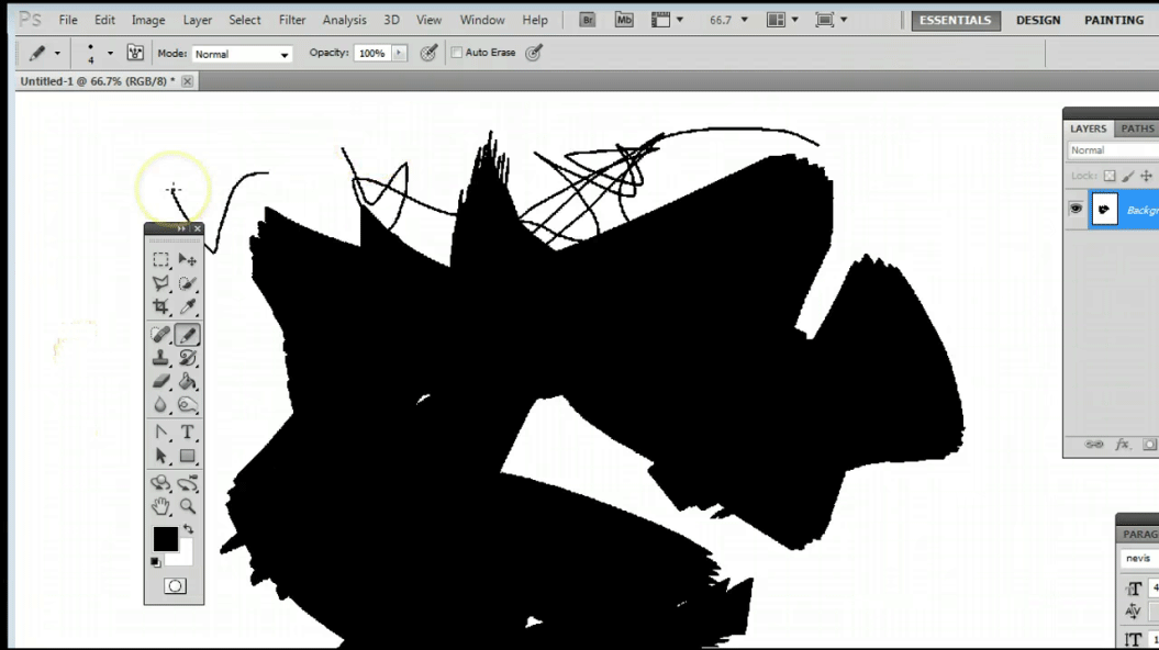 Pencil Tool in Photoshop (Brush Styles)