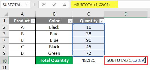 subtotal example 2-5