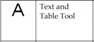 text and table tool