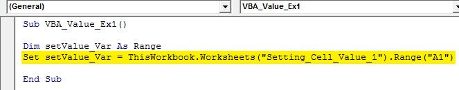 vba value Example 1.2