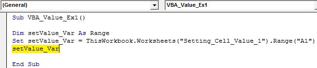 vba value Example 1.3