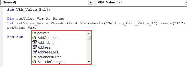 vba value Example 1.4