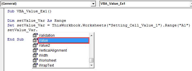 vba value Example 1.5