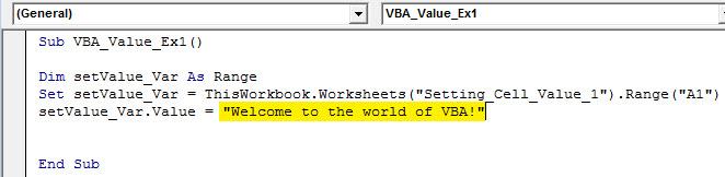 vba value Example 1.6