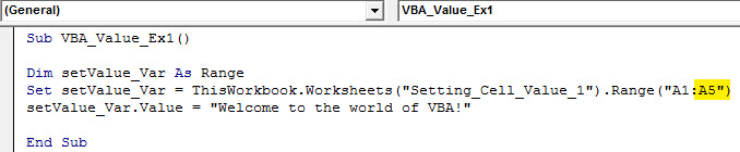 vba value Example 1.7