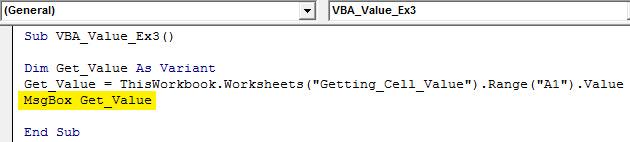 vba value Example 2.8