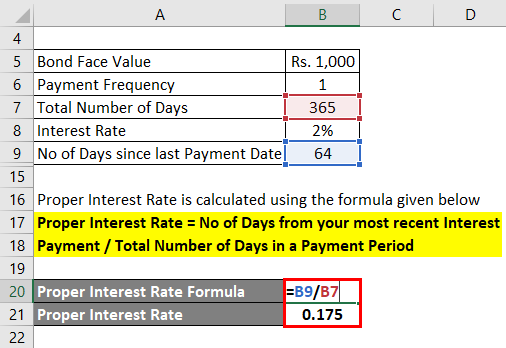 Proper Interest Rate Example 1-3