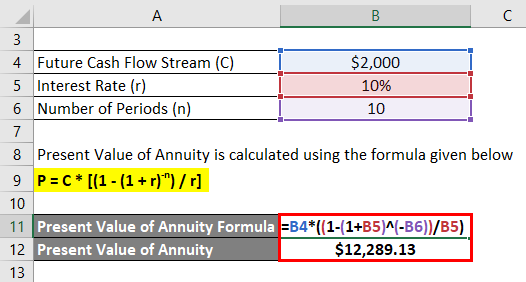 Annuity Formula Example 1-2
