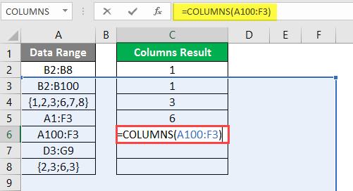 COLUMNS formula example 2-11