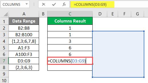 COLUMNS formula example 2-13