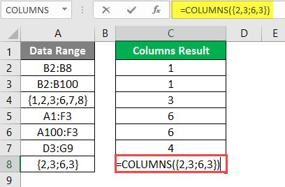 COLUMNS formula example 2-15