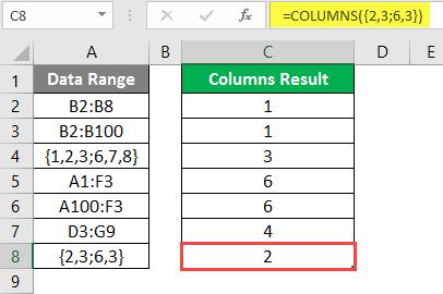 COLUMNS formula example 2-17