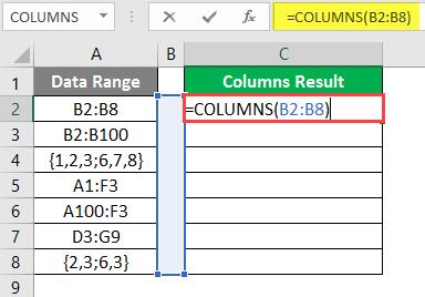 COLUMNS formula example 2-3