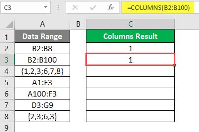 COLUMNS formula example 2-6