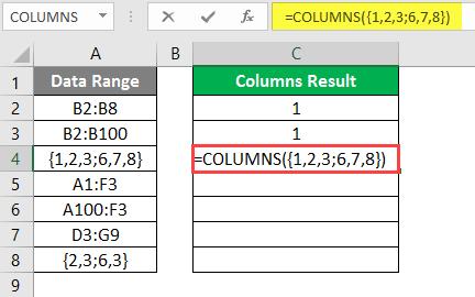 COLUMNS formula example 2-7
