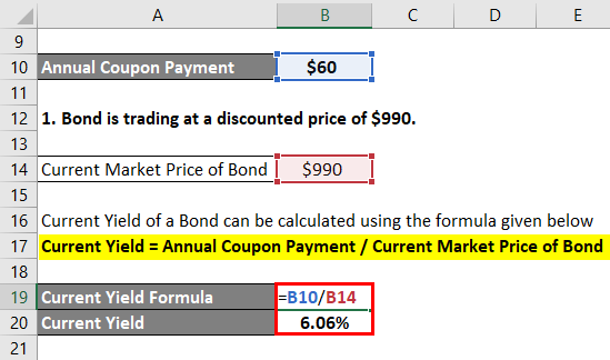 Current Yield Formula Example 2-3