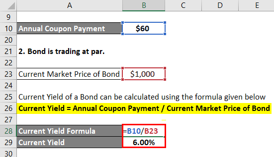Current Yield Formula Example 2-4
