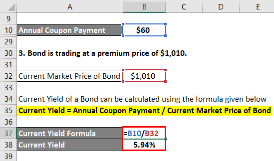 Current Yield Formula Example 2-5