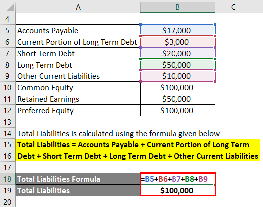 Calculation of Total liability Example 2-2