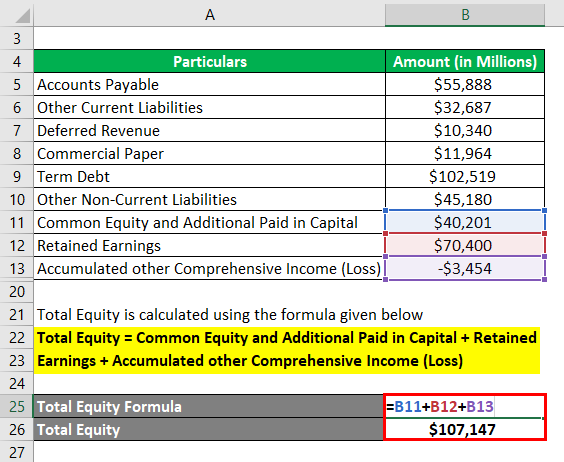 Calculation of Total Equity Example 3-3
