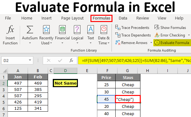 Evaluate Formula in Excel