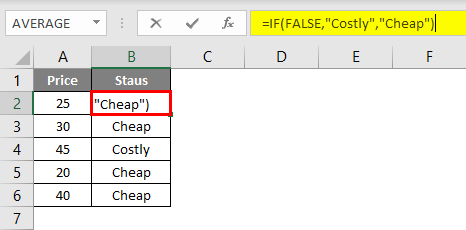 Evaluate Formula in excel example 1.2