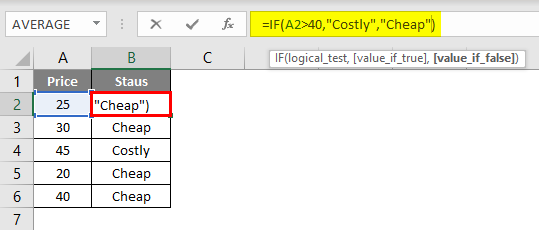 Evaluate Formula in excel example 1