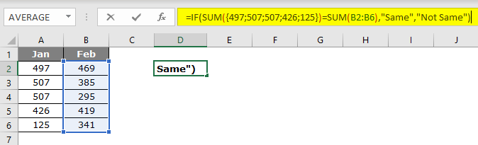 Evaluate Formula in excel example 2.7