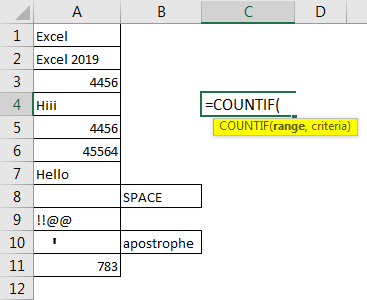 Excel Count Cells with Text 1.2