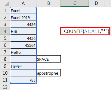 Excel Count Cells with Text 1.4