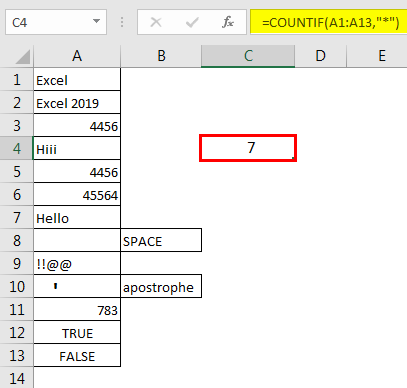 Excel Count Cells with Text 1.5