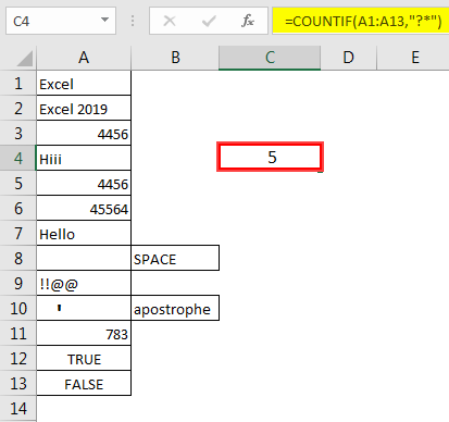 Excel Count Cells with Text 3.1