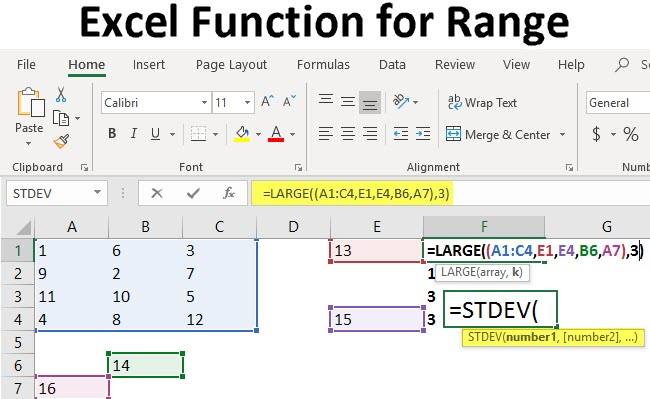 Excel Function for Range
