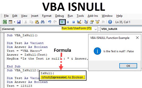 Excel VBA ISNULL