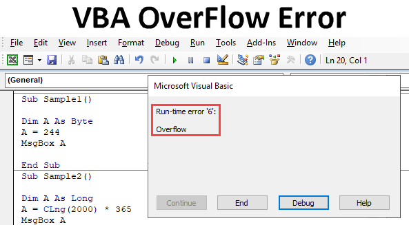 Excel VBA OverFlow Error