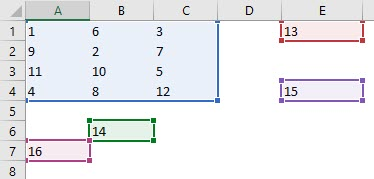 Excel function for range 2