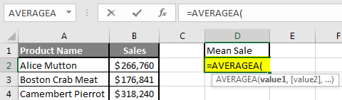 How to Find Mean in Excel 2.3
