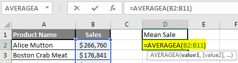 How to Find Mean in Excel 2.4