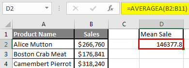 How to Find Mean in Excel 2.5