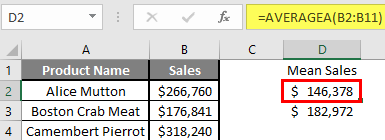 How to Find Mean in Excel 2.6.1