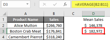 How to Find Mean in Excel 2.6.2