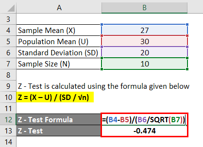 Hypothesis Testing Formula Example 1-2
