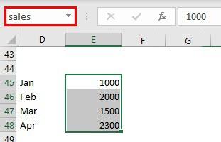 INDIRECT Formula using name range example 3.1