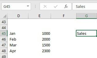 INDIRECT Formula using name range example 3.2