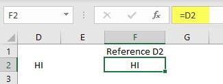 Indirect formula in excel 1.1
