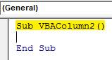 VBA Column 2