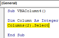 Insert column Example 4.2