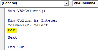 Insert column Example 4.4