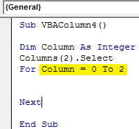 Insert column Example 4.5